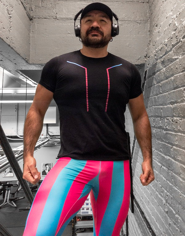 80's Retro Neon Bodybuilding Tights