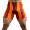 80's Retro Blood Orange Spandex Shorts