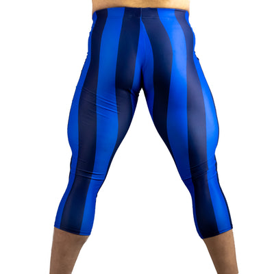 80's Retro Blueberry 3/4 Bodybuilding Tights