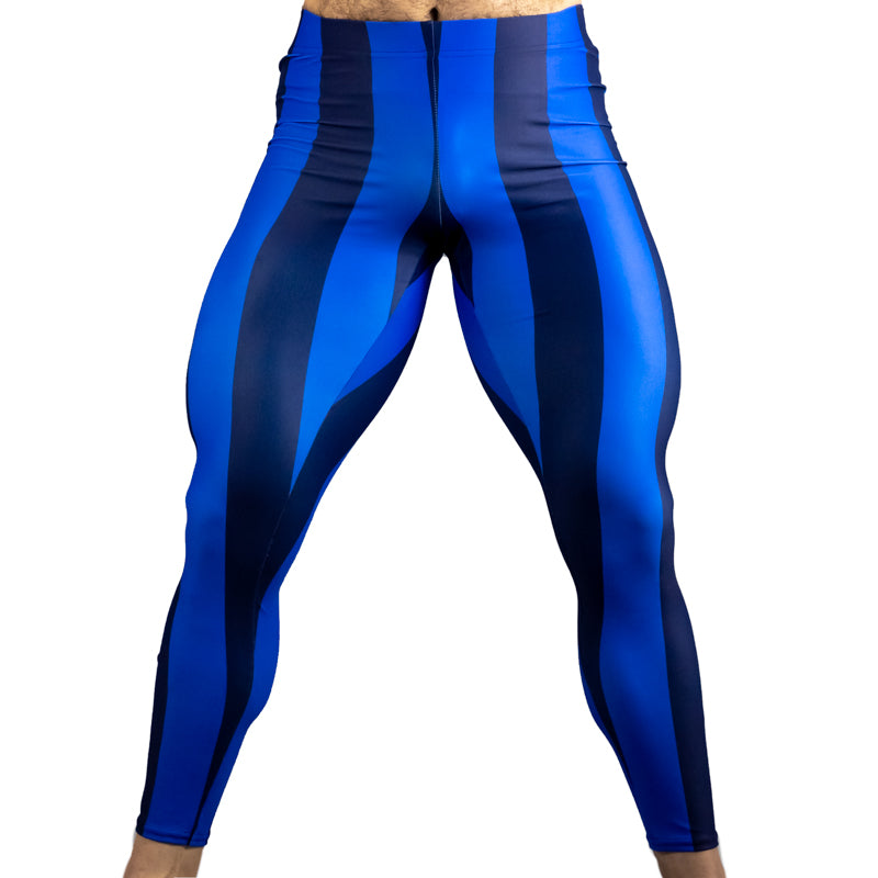 80's Retro Blueberry Bodybuilding Tights