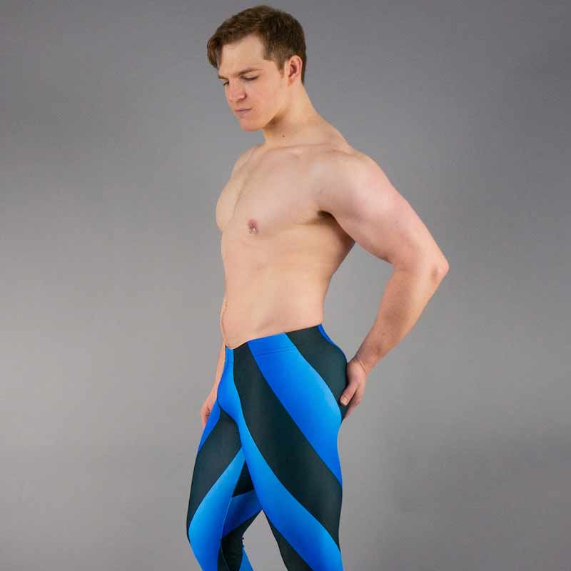 80's Retro Cobalt Bodybuilding Tights