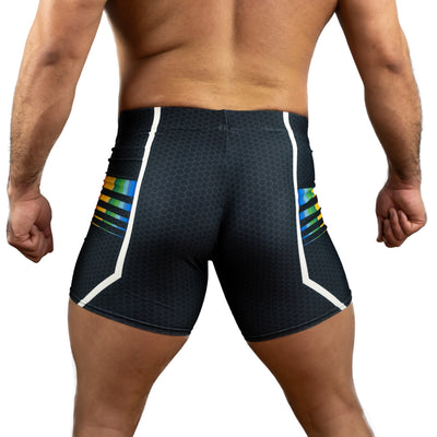 DARK RAINBOW 3000 Spandex Shorts