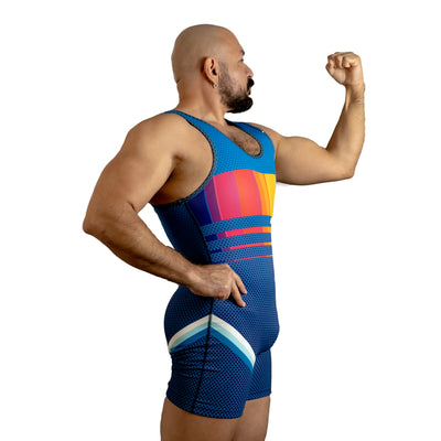 DARK RAINBOW 3000 Wrestling Singlet