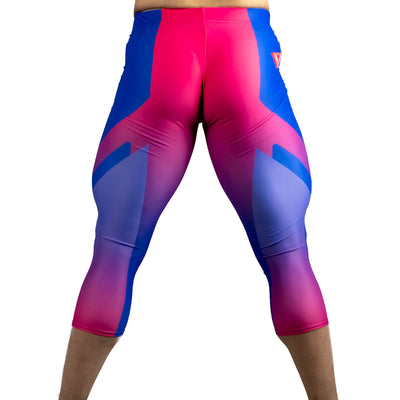 Double Helix Bisexual Pride 3/4 Bodybuilding Tights
