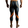 3/4 Electric Orange Bodybuilding Tights