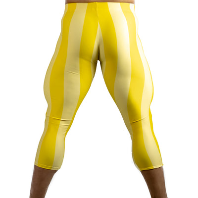 80's Retro Lemon 3/4 Bodybuilding Tights