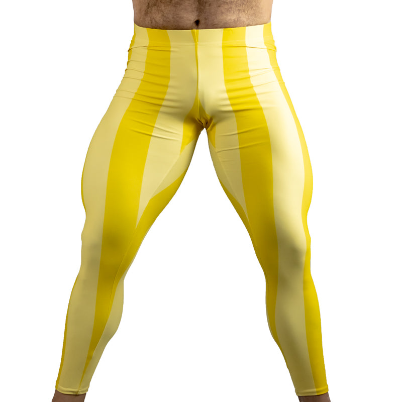80's Retro Lemon Bodybuilding Tights