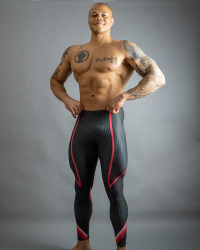 Queer Red Bodybuilding Tights