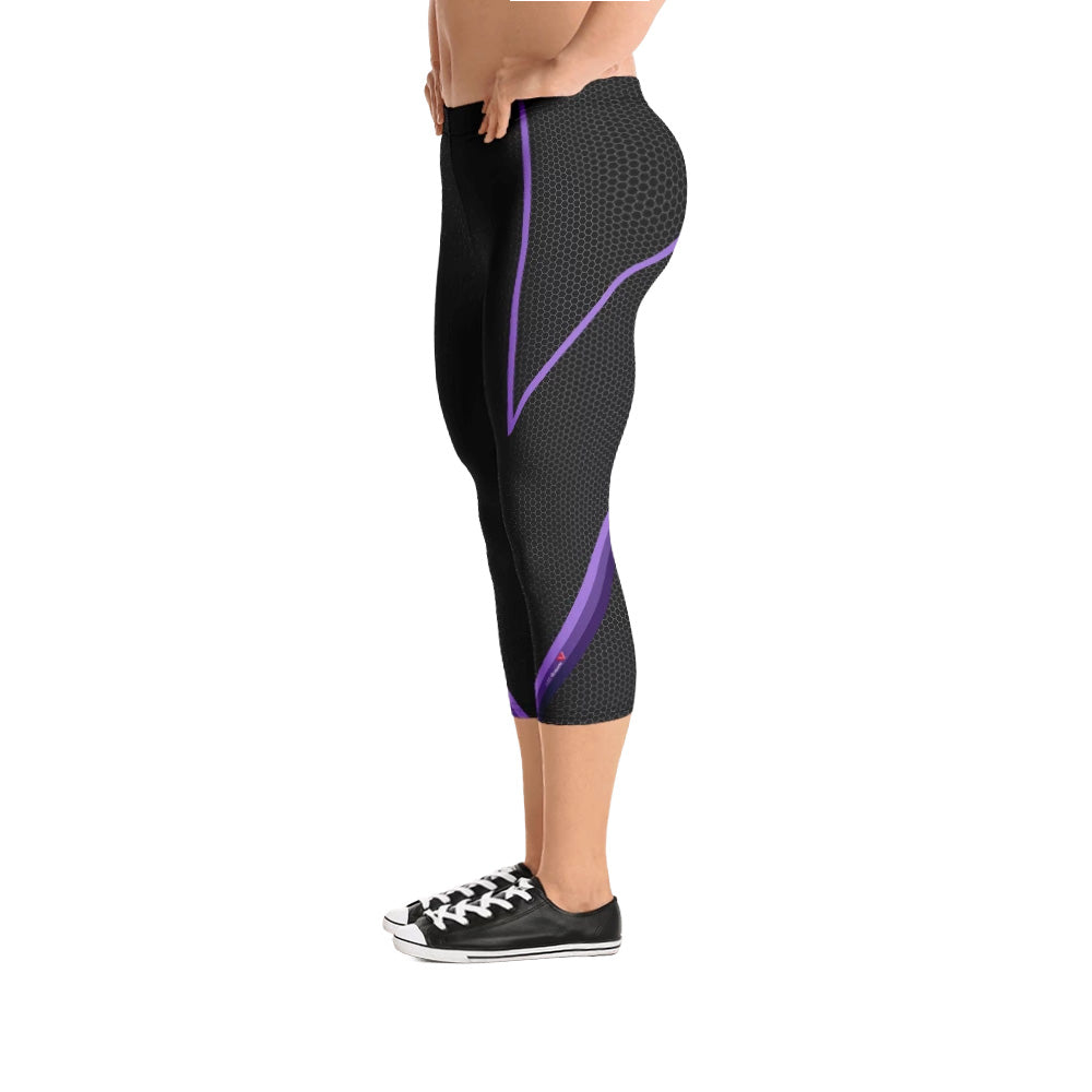 Radical Purple 3/4 Bodybuilding Tights
