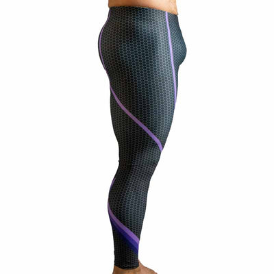 Radical Purple Bodybuilding Tights