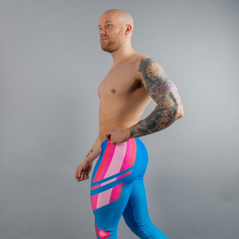 Vaporwave Bodybuilding Tights For Men