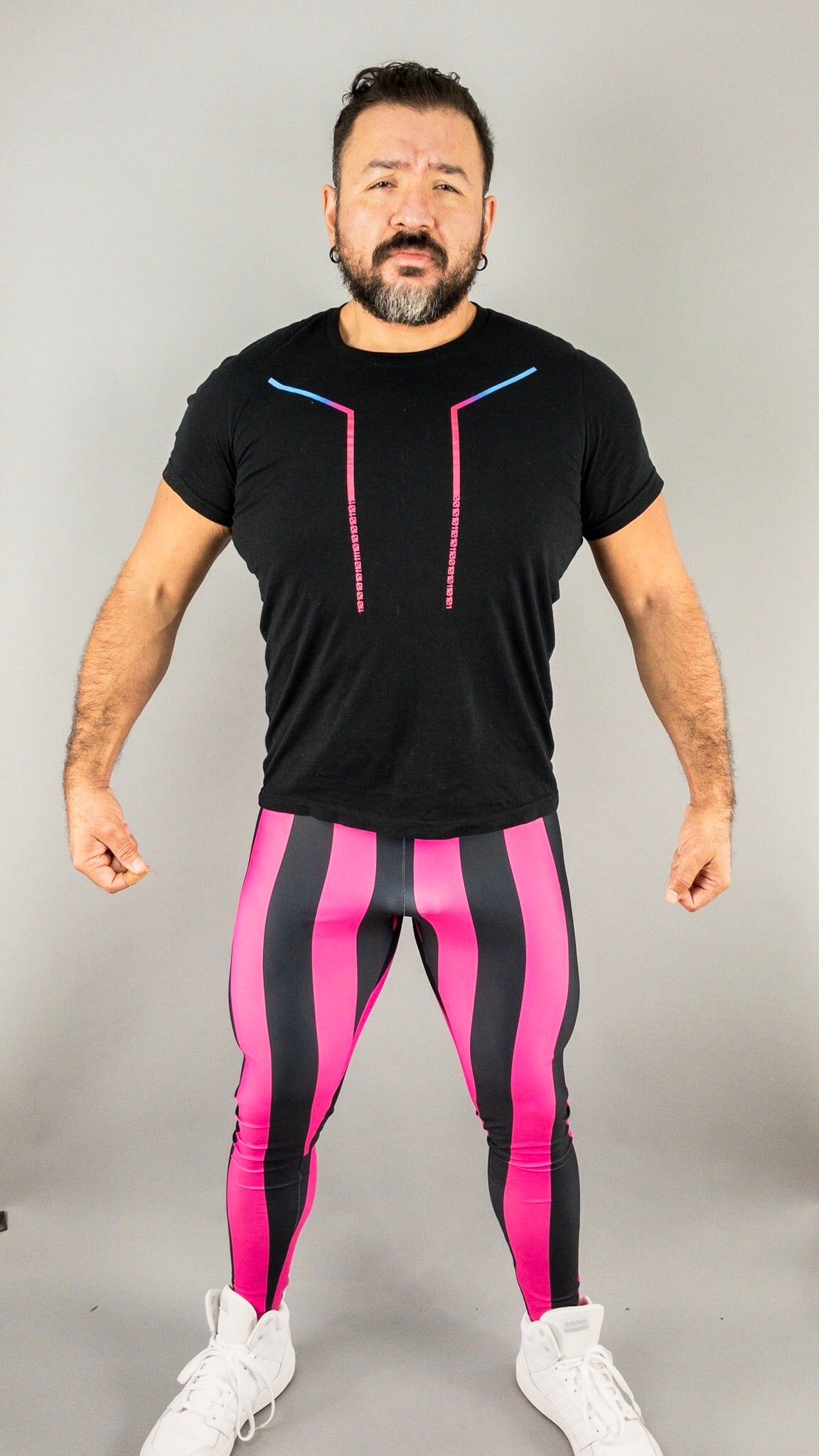 80's Retro Raspberry Bodybuilding Tights