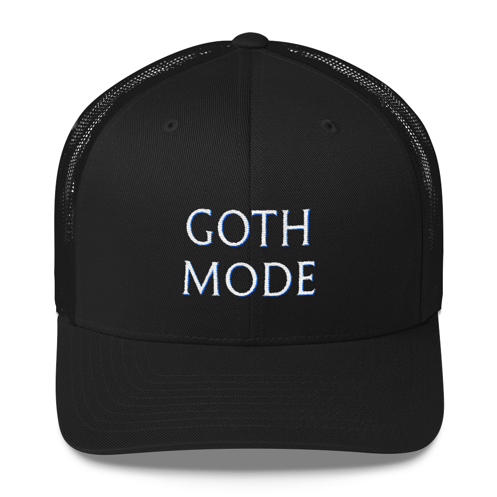 Goth Mode Mesh-Back Baseball Cap