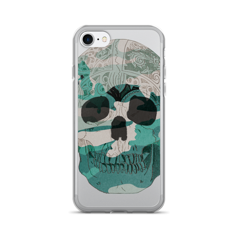 Teal Skull Camo iPhone 7/7 Plus Case