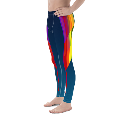 Plus-Size Pride Bodybuilding Tights (Midnight)