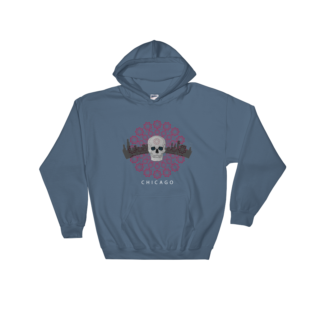 Chicago Skull Hooded Sweatshirt