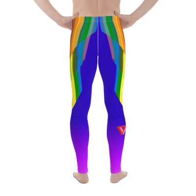 Plus-Size Pride Bodybuilding Tights (80's Neon)