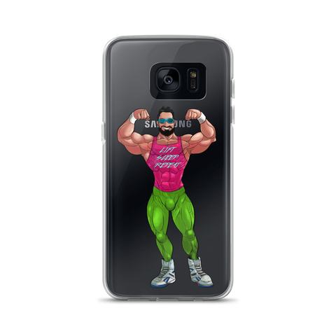Lift/Sleep/Repeat 80's Retro Bodybuilder Samsung Case