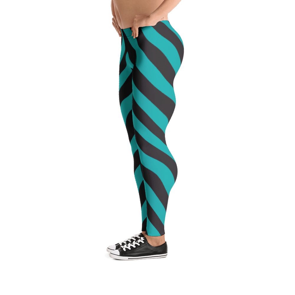 80's Retro Teal Bodybuilder Tights