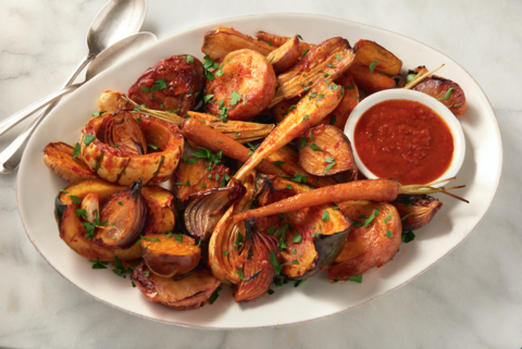 Harissa Roasted Vegetables Recipe