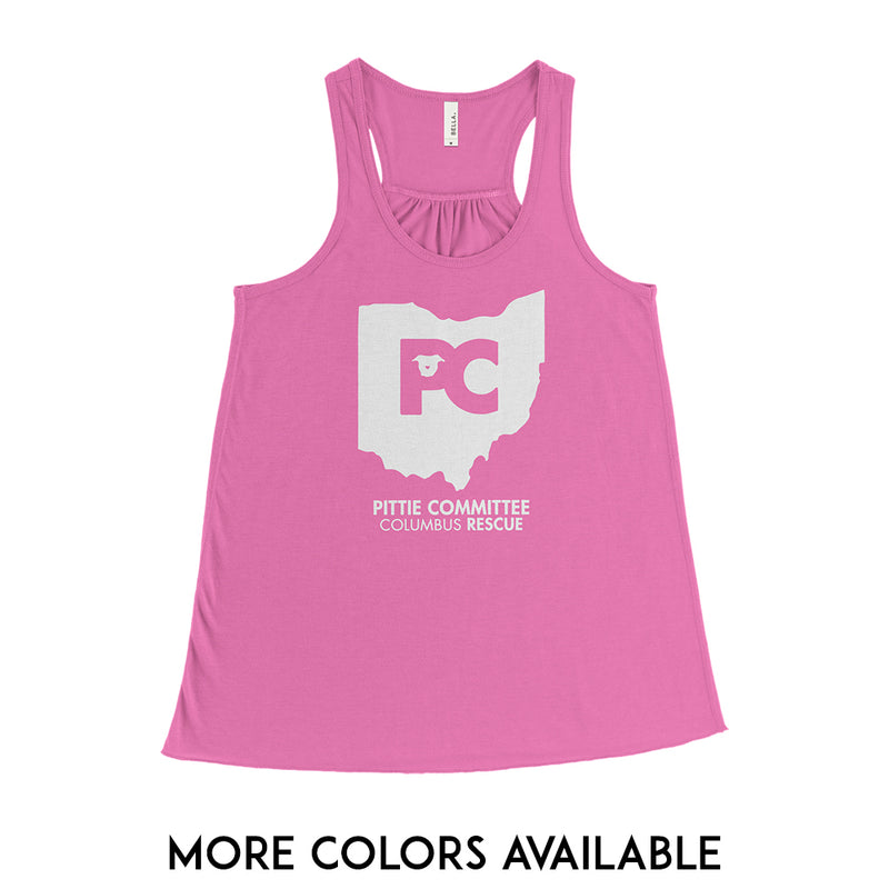Columbus Pittie Committee - Womens Racerback Tank