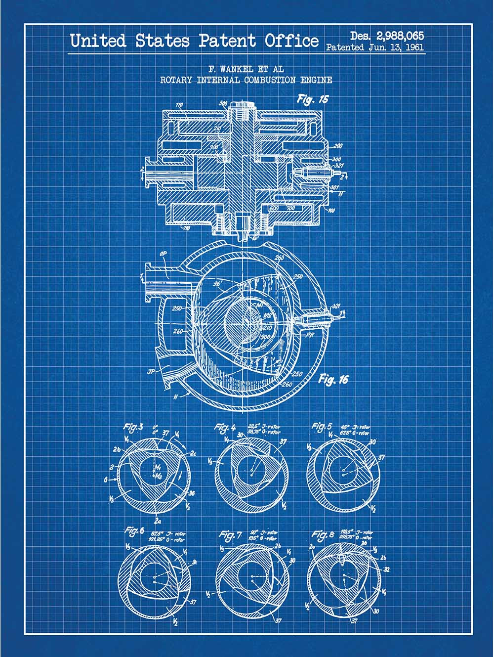 (N6) - Rotary Internal Combustion Engine - F. Wankel - 1961