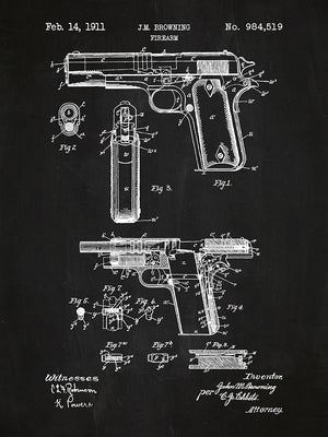 Browning Firearm - J.M. Browning - 1911