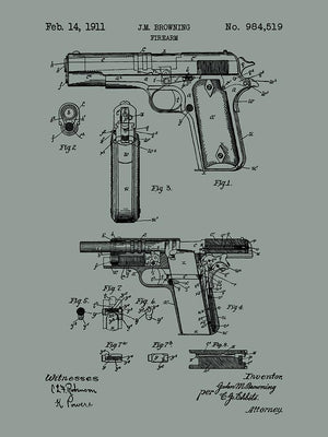 (M14) - Browning Firearm - J.M. Browning - 1911