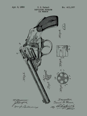 Wesson Revolving Firearm - D. B. Wesson - 1889