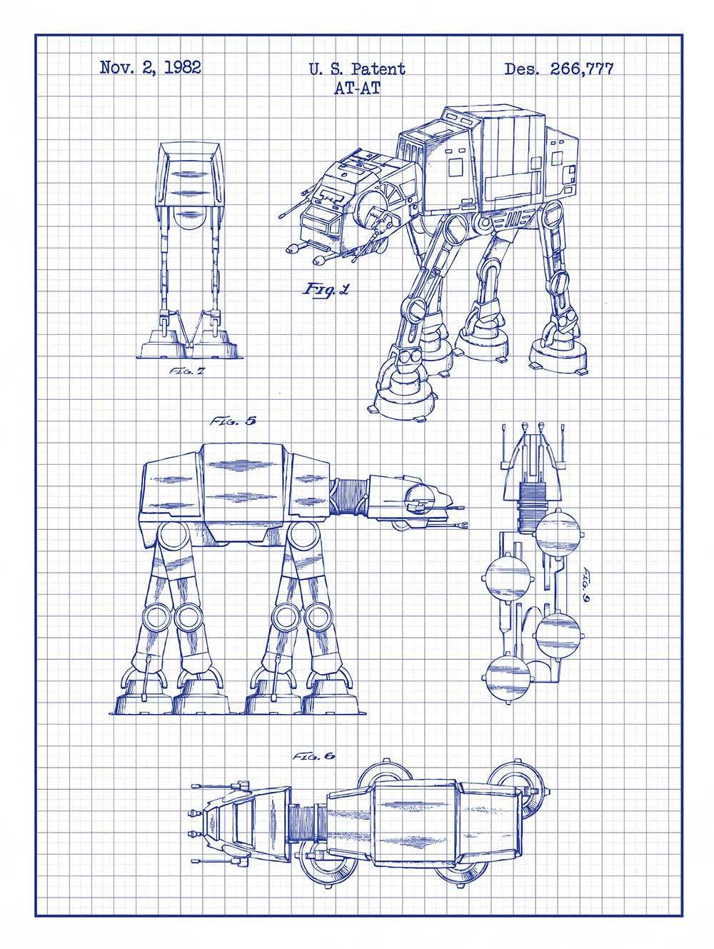 Patent Prints -  ATAT Walker - 1981