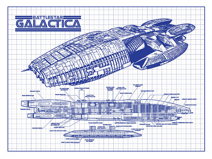 Battlestar Galactica Spaceship
