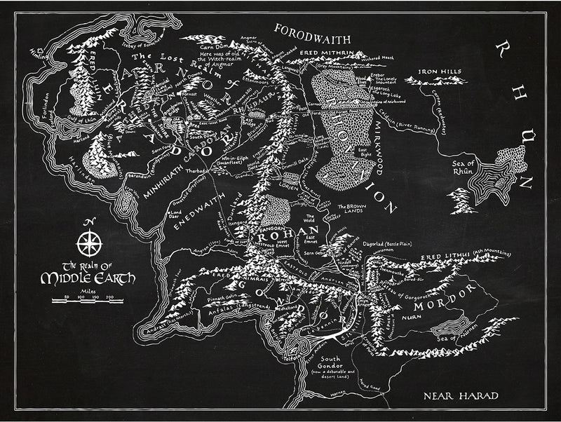 (T16) - Middle Earth Map