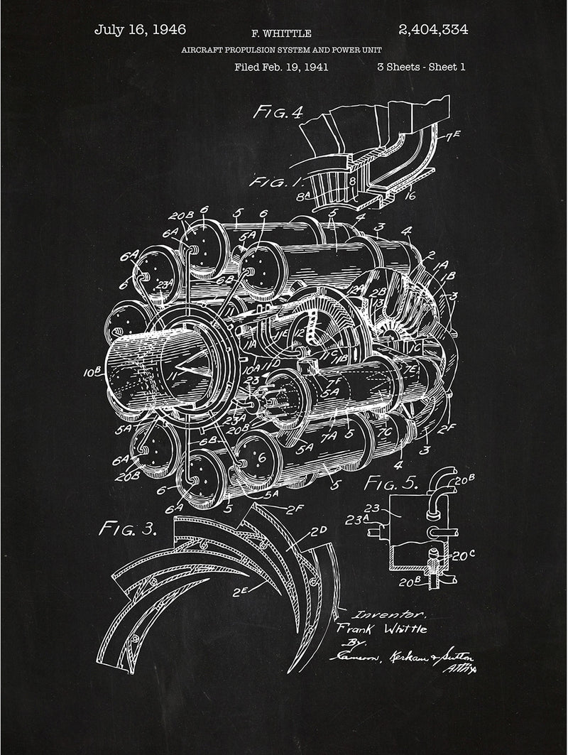 Airplane Engine - F. Whittle - 1946
