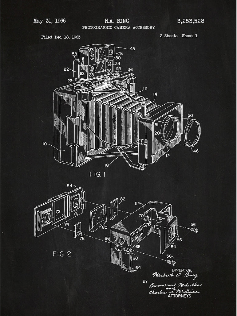 Photographic Camera Accessory - H.A. Bing - 1966