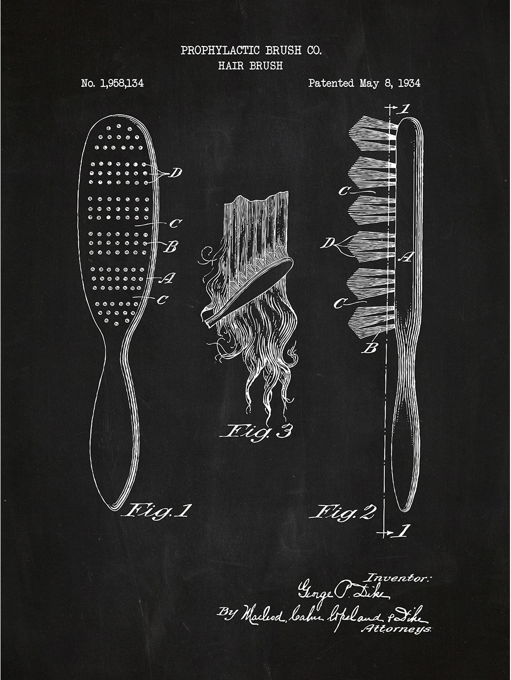 Hair Brush - Prophylactic Co. - 1934