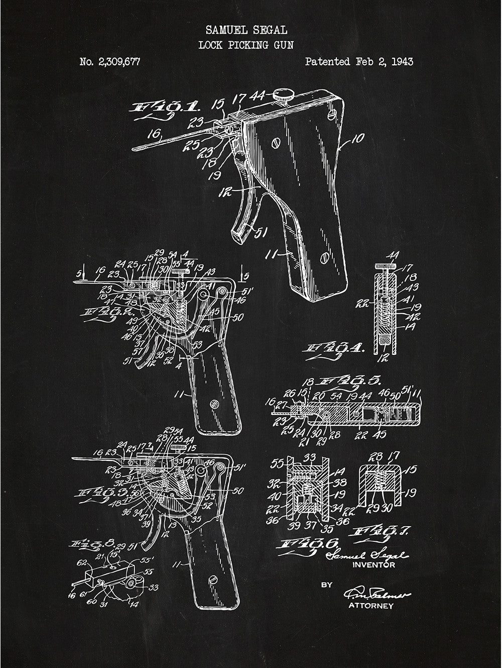 Lock Picking Apparatus - Samuel Segal - 1943