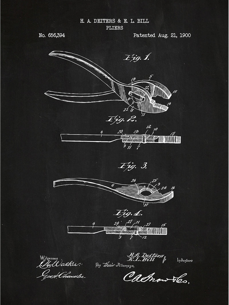 Pliers - H. Dieters & E. Bill - 1900