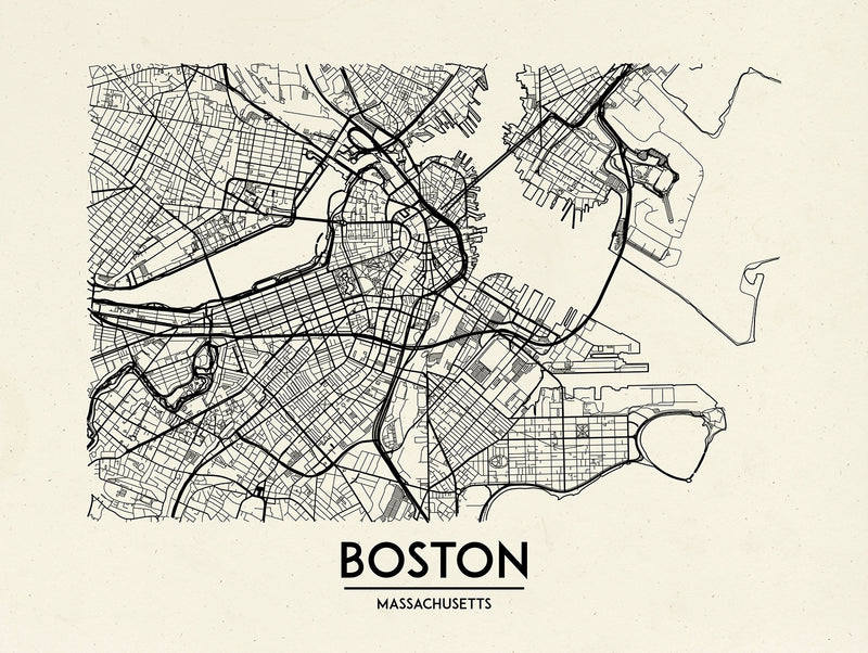 Boston - Minimal Map