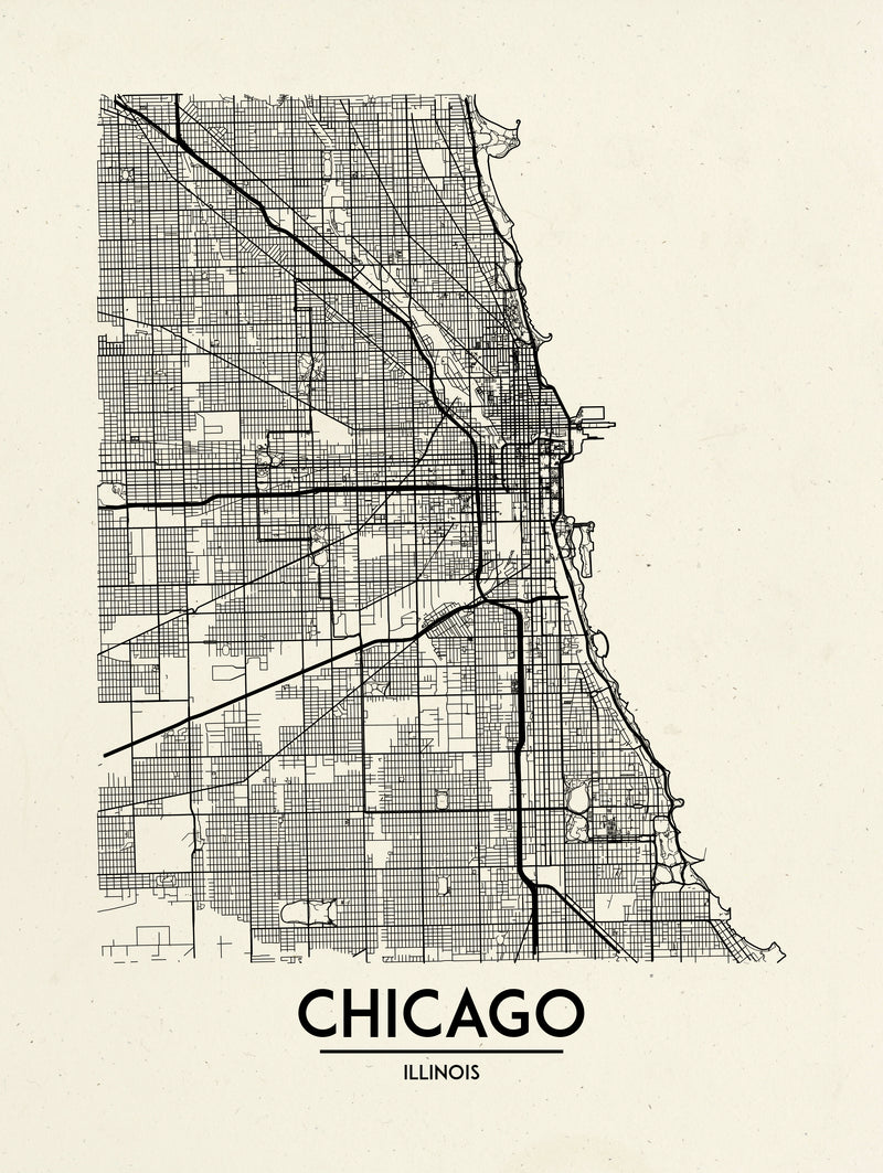 Chicago - Minimal Map
