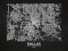 Dallas - Minimal Map