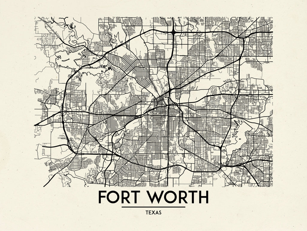 Fort Worth - Minimal Map