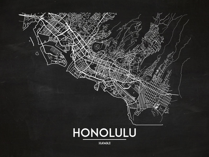 Honolulu - Minimal Map