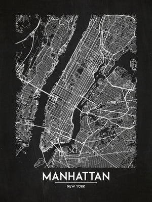 Manhattan - Minimal Map