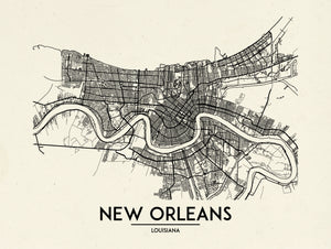 New Orleans - Minimal Map