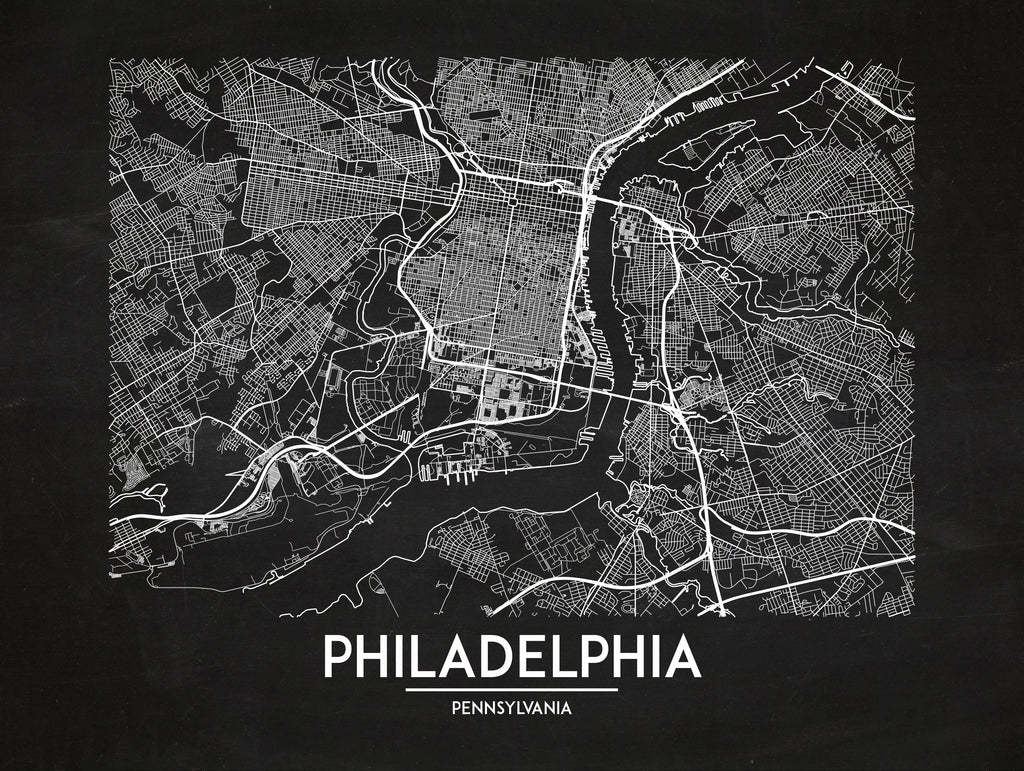 Philadelphia - Minimal Map