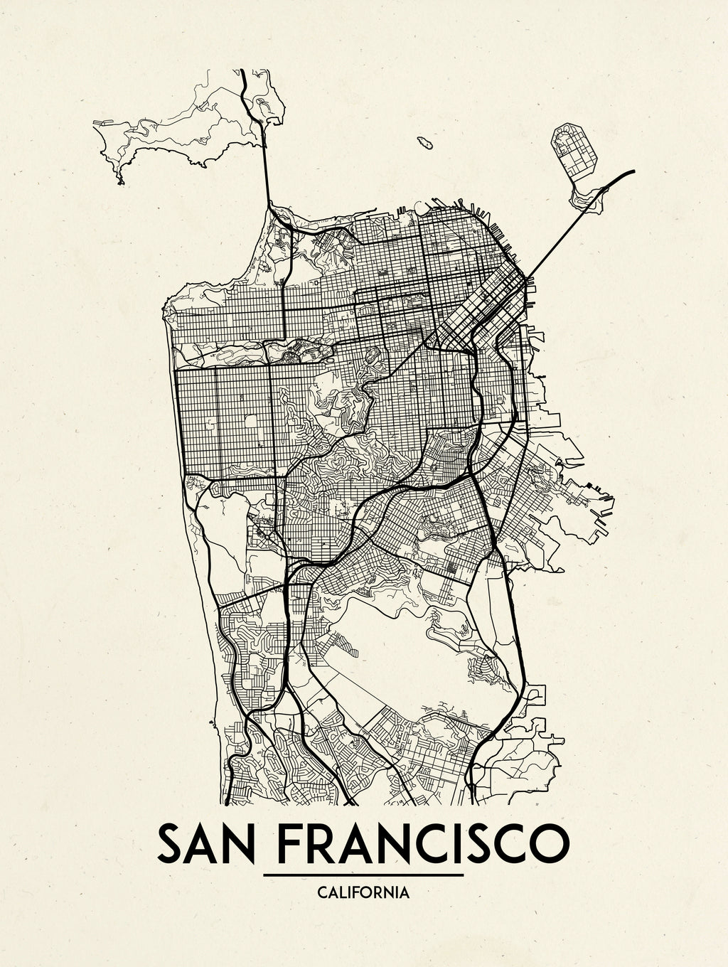 San Francisco - Minimal Map