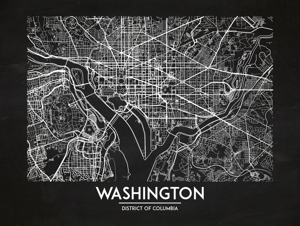 Washington DC - Minimal Map