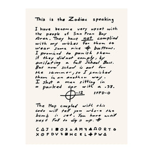 The Zodiac Killer - Letter