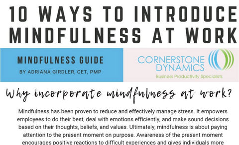 10 Ways to Be Mindful at Work
