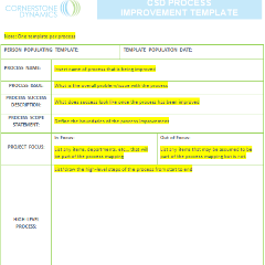 CSD Process Improvement Template